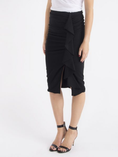 drew cascade ruffle pencil skirt
