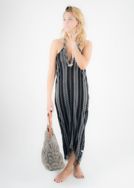maxi fringe halter dress 3
